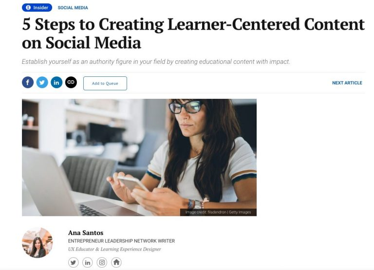 3 Steps to Creating Learner-centered Courses on Social Media