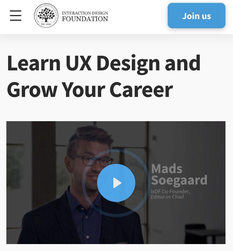 Interaction Design Foundation UX Courses